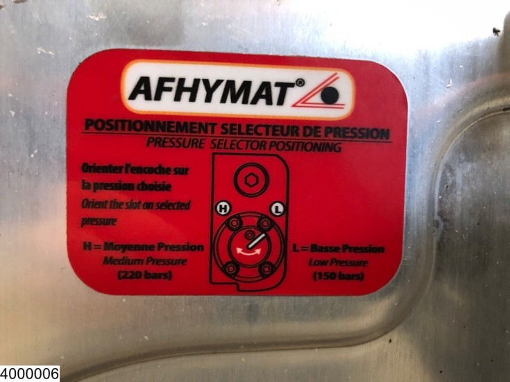 Afhymat Pump, tank, control switch and hydraulic hoses